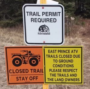 Trails Closed Signs