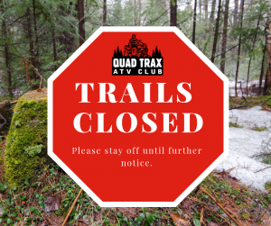 Trails Closed Spring Sign